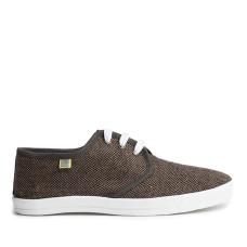 Short DERBY Sneakers, Zig-Zag (brown)
