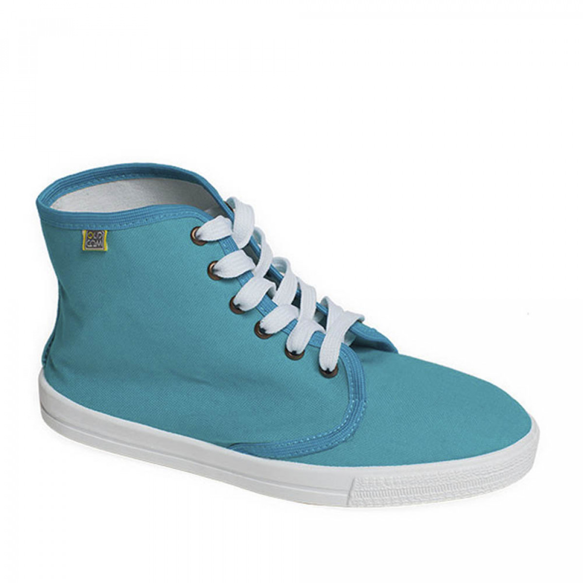 High-Top DERBY Sneakers, Turquoise