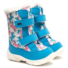 Kid's Boots ALASKA, Azure Pony