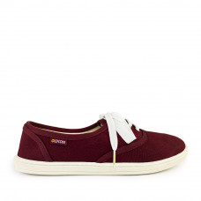 Sneakers OXFORD Canvas, Burgundy