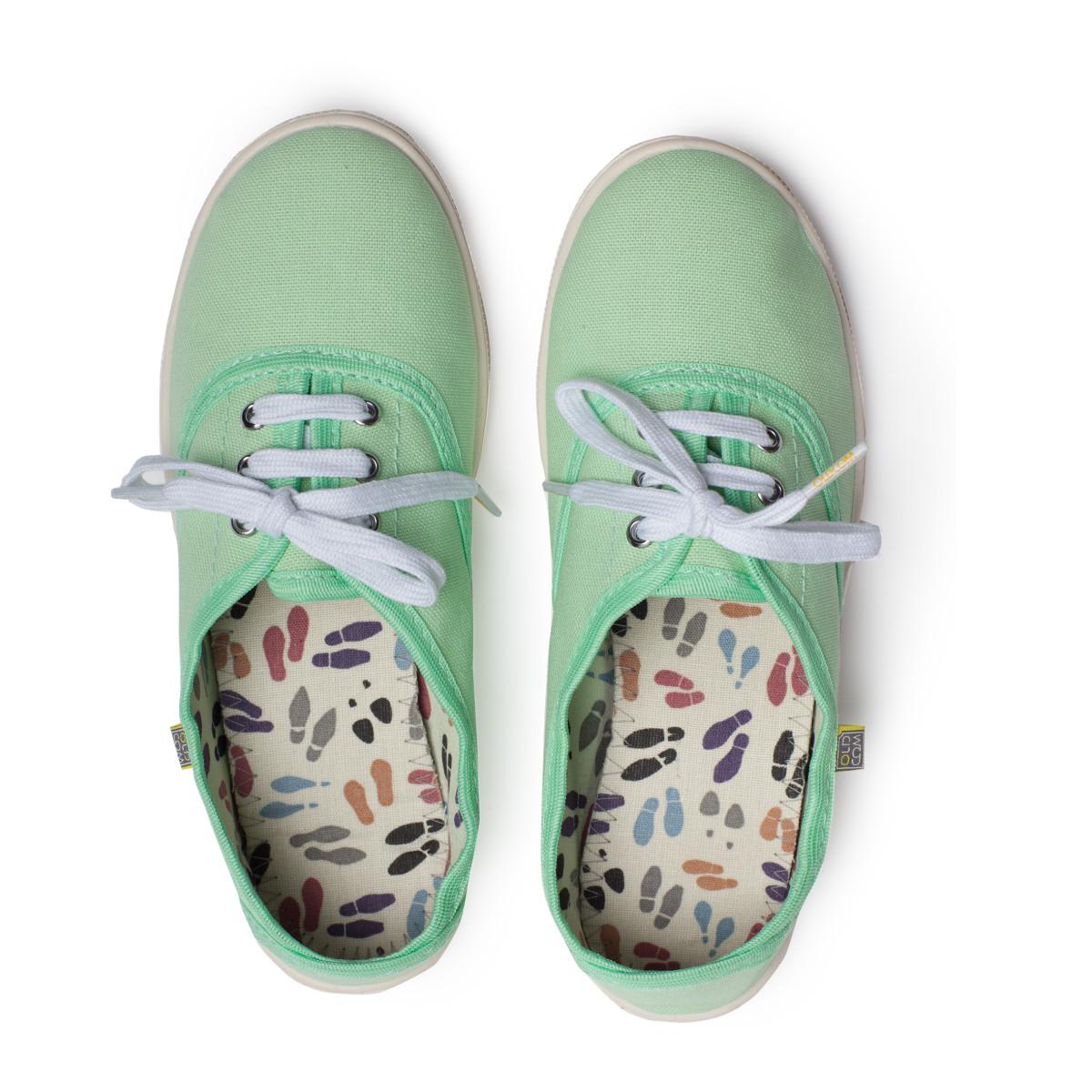 Sneakers OXFORD Canvas, Pistachio