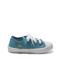 Kid's Sneakers CLASSIC (White Sole), Turquoise