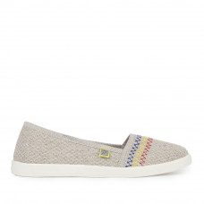 Espadrilles Flax with Embroidery, Beige