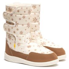 Boots AURORA Print, Beige Snowflakes