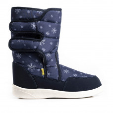 Boots AURORA Print, Navy Snowflakes