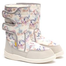 Boots AURORA Print, Gray Flowers
