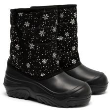 Kid's Boots JUMPER, Black Snowflakes