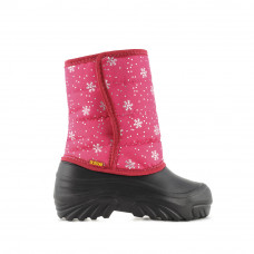 Kid's Boots JUMPER, Pink Snowflakes