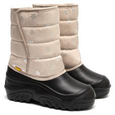 Kid's Boots JUMPER, Beige Snowflakes