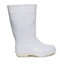 Men's White High Wellies, White