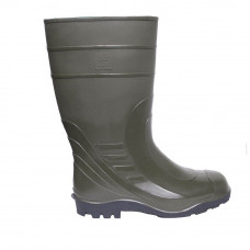 High Wellies with steel toe-cap, Olive