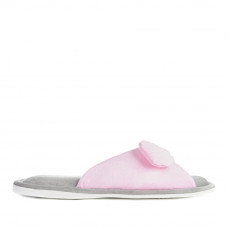 Women's Home slippers BUNNY, Pink / gray