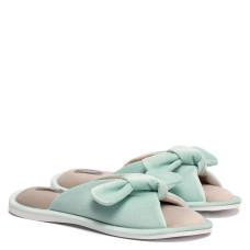Women's Home slippers BUNNY, Mint/Beige