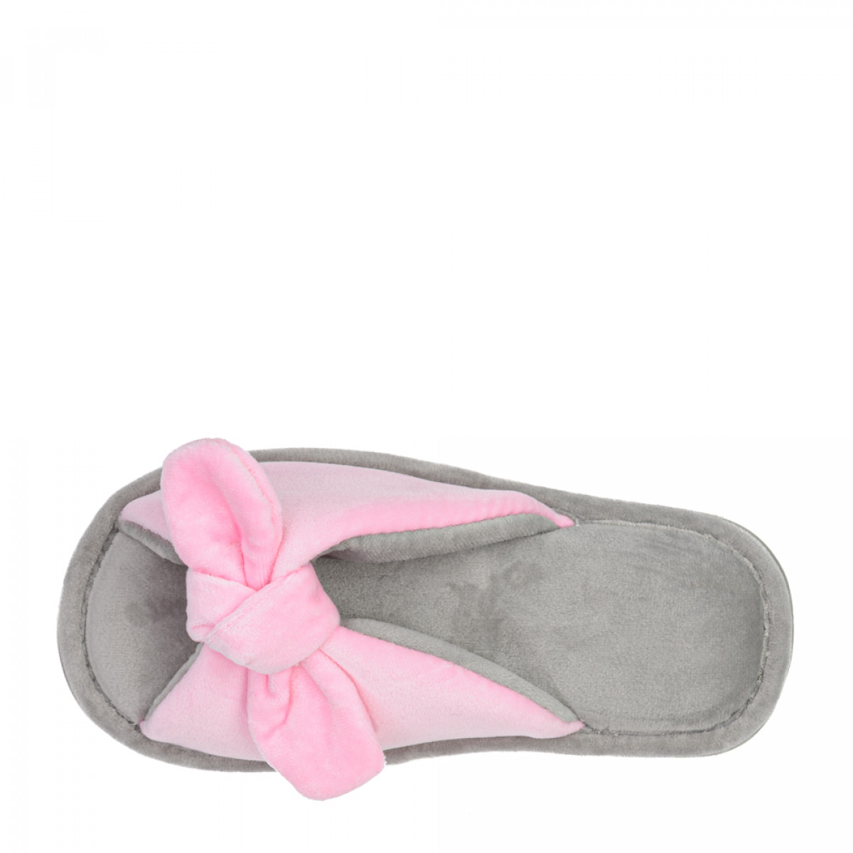 Kid's home slippers BUNNY, Pink / gray
