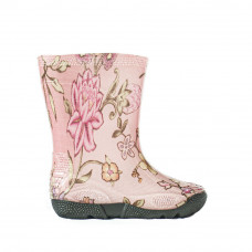 Kids' Wellies with print, Flowers on pink