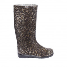 Women's High Wellies with print, Leopard