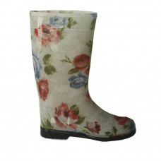 Women's High Wellies with print, Gray rose