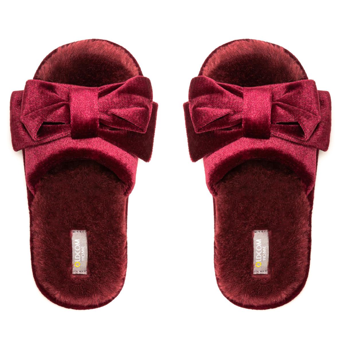 Kid's home slippers CHARM, Burgundy