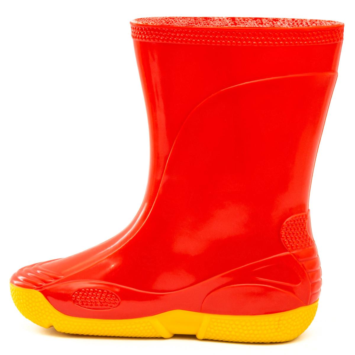 Kids' Wellies VIVID, Red/Yellow