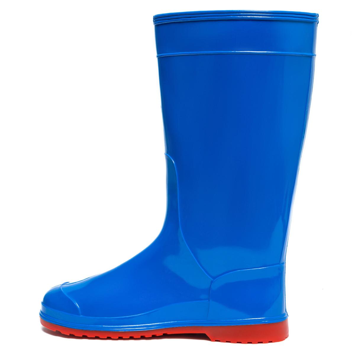 Women's Hight Wellies VIVID, Blue/Red