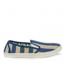 Slip-on COOPER Linen Navy, Blue Lines